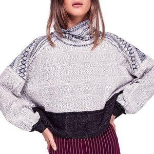 We The Free Lodge Fair Isle Cropped Sweater